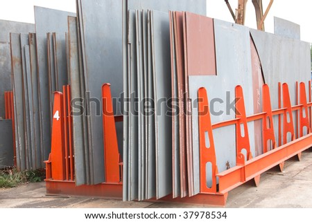 steel sheets - stock photo