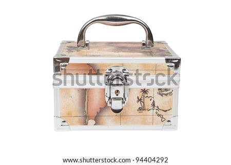 steel small suitcase with the lock