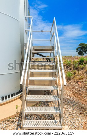 steel staircase - stairs - stock photo