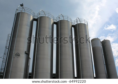 steel tanks - stock photo