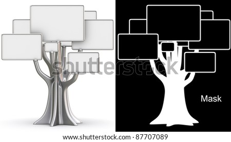 Steel tree - stock photo