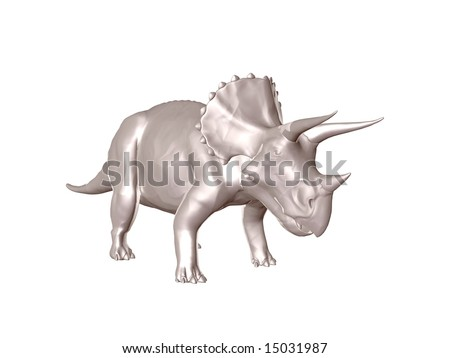 Steel Triceratops an ancient jurassic extinct reptile