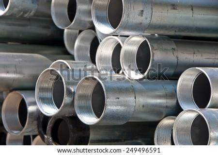 steel tube  - stock photo