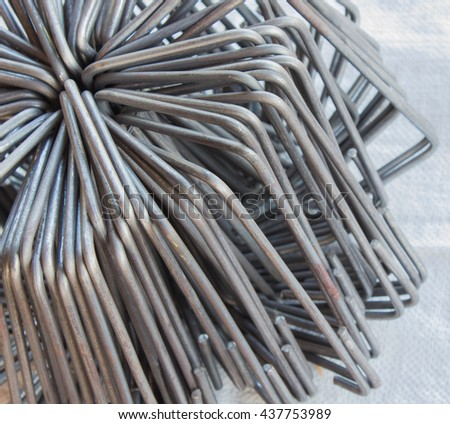steel used for construction background. - stock photo