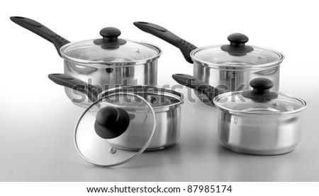steel utensils - stock photo
