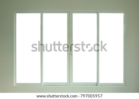 Steel White Window Frame Home Interior Stock Photo (Royalty Free ...