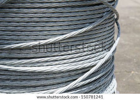 Steel wire in a coil