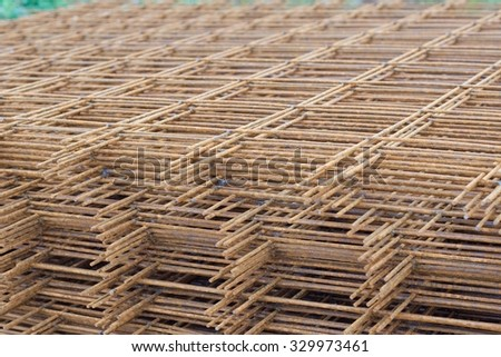 Steel wire mesh for concrete cement construct reinforcement rebar weld wire mesh  - stock photo