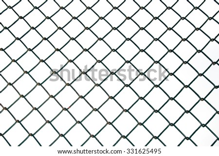 Steel Wire mesh isolate on white background - stock photo
