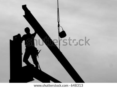 Steel worker - stock photo