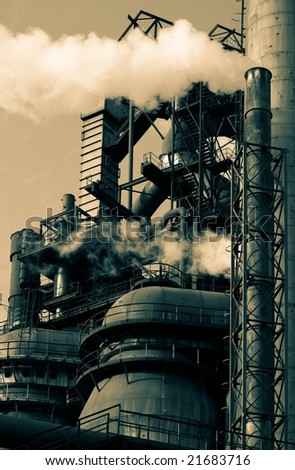Steelworks - stock photo