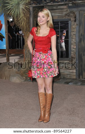 "Stefanie Scott at the Los Angeles premiere of the animated movie ""Rango"" at the Regency Village Theatre, Westwood. February 14, 2011  Los Angeles, CA Picture: Paul Smith / Featureflash"