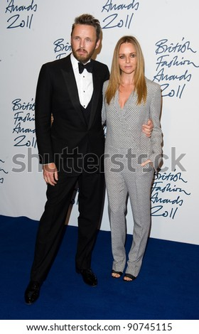 Stella McCartney and husband arriving for the 2011 British Fashion Awards, at The Savoy, London. 28/11/2011 Picture by: Simon Burchell / Featureflash - stock photo