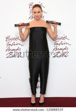 Stella McCartney in the press room for The British Fashion Awards 2012 held at The Savoy, London. 27/11/2012 Picture by: Henry Harris - stock photo