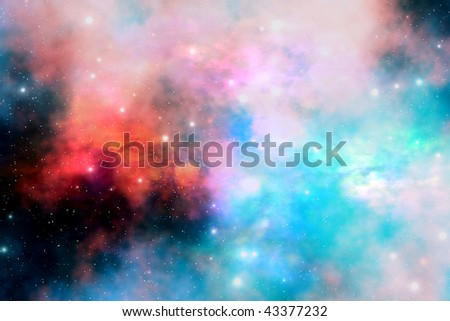 STELLAR RELIC - Cloud and star remnants after a supernova explosion. - stock photo