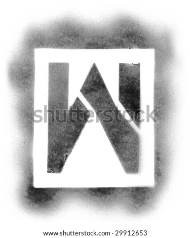 spray paint stencils stencil letters stock images royalty free images 29454