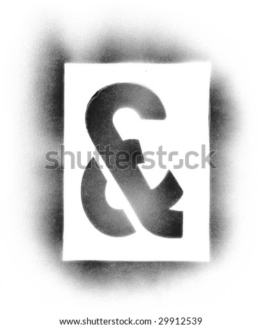 Stencil symbols in spray paint - & - stock photo