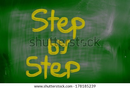 Step By Step Concept - stock photo