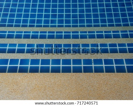Step of Swimming Pool . with a beautiful tiles.