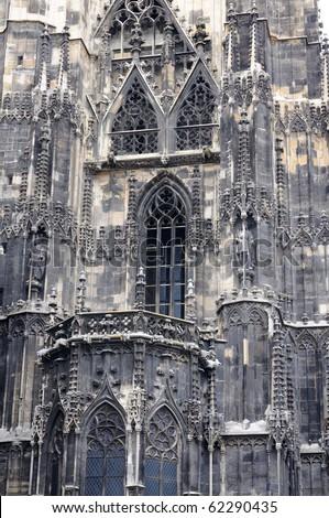 Stephansdom, Vienna, Austria - fragment of exterior - stock photo