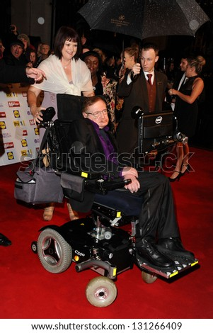Stephen Hawking arriving for the 2012 Pride of Britain Awards, at the Grosvenor House Hotel, London. 29/10/2012 Picture by: Steve Vas - stock photo