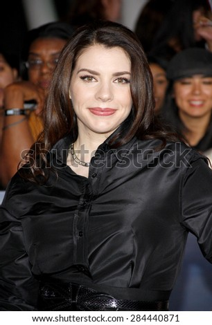 Stephenie Meyer at the Los Angeles premiere of 'The Twilight Saga: Breaking Dawn - Part 2' held at the Nokia Theatre L.A. Live in Los Angeles on November 12, 2012.  - stock photo