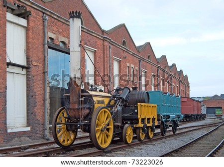 "Stephenson's ""Rocket"", one of the first steam locomotives in the world - stock photo"