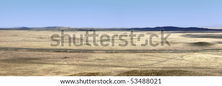 Steppe in the spring.