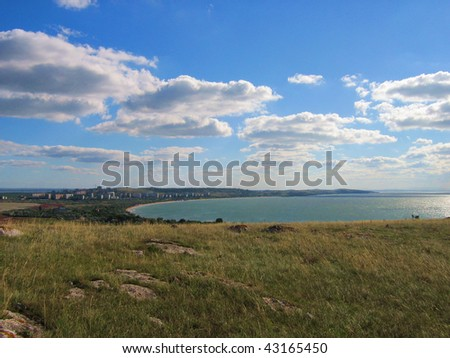 Steppe in the Ukraine in the summer. - stock photo