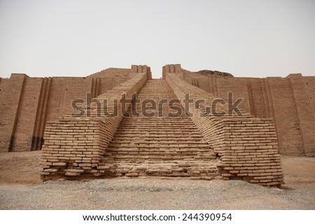 steps ziggurat ur built by neo sumerians stock photo royalty free