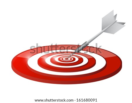 steps target and dart illustration design over a white background