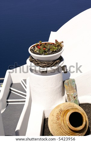 Steps to the sea - stock photo