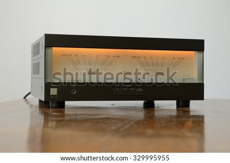 Stereo Amplifier - stock photo