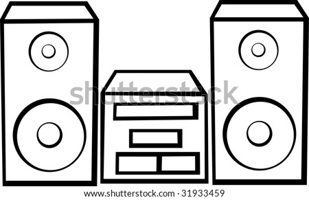 stereo audio player - stock photo