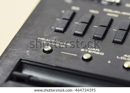 Stereo button vintage electronics audio equipment