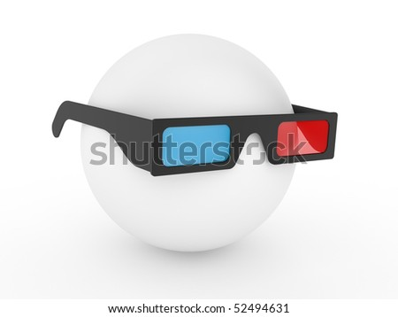 stereo glasses isolated on a white background