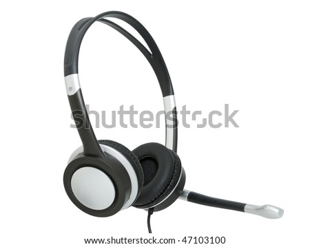 Stereo headphones for listening of music with a microphone