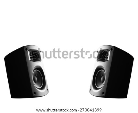 Stereo music speakers - stock photo