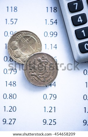 sterling exchange rate to dollar - stock photo