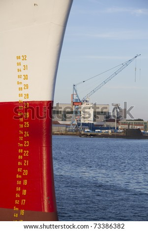 Stern of a ship - stock photo