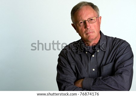 stern old man - stock photo