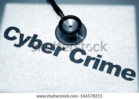 Stethoscope and Cyber Crimel, concept of network Security