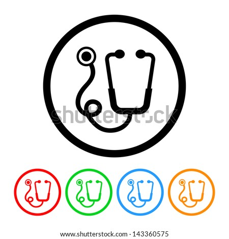Stethoscope Icon - Raster Version.Vector Also Available - stock photo