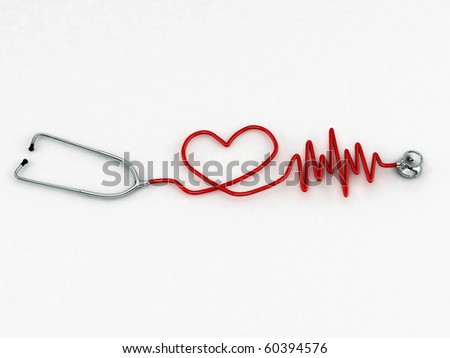 stethoscope isolated on white background - stock photo