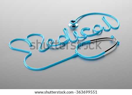 Stethoscope medical and heart. - stock photo