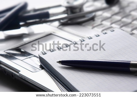 stethoscope on desk