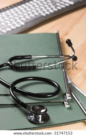stethoscope on medical notes