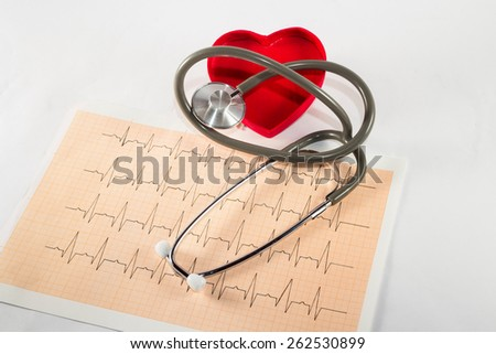 stethoscope to listen to the beat of our heart - stock photo