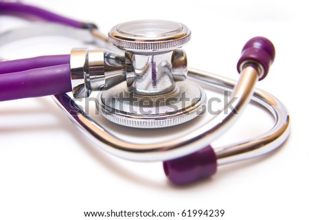 stetoscope isolated against white packground - stock photo