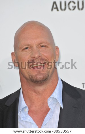 "Steve Austin at the world premiere of his new movie ""The Expendables"" at Grauman's Chinese Theatre, Hollywood. August 3, 2010  Los Angeles, CA Picture: Paul Smith / Featureflash - stock photo"